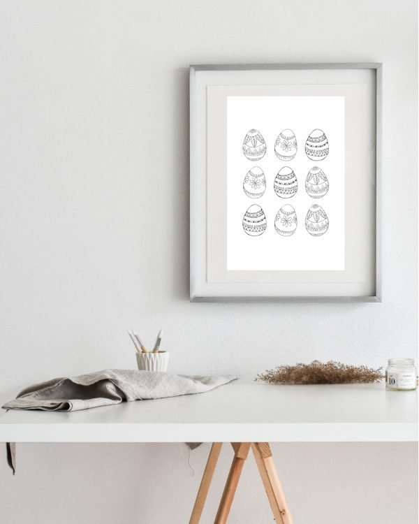 Boho Easter Eggs Illustrations