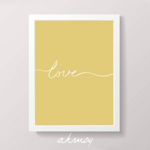 Handwritten Love Sign Yellow