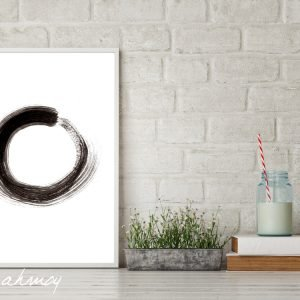 Ensō Zen Circle Watercolor Painting