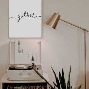 Gather Handwritten Wall Art Print
