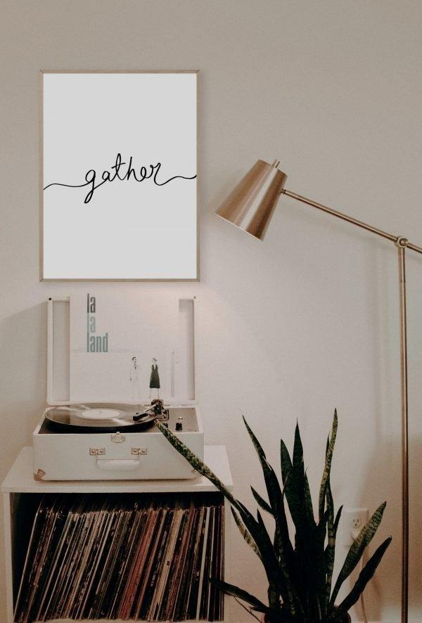gather handwritten wall art print