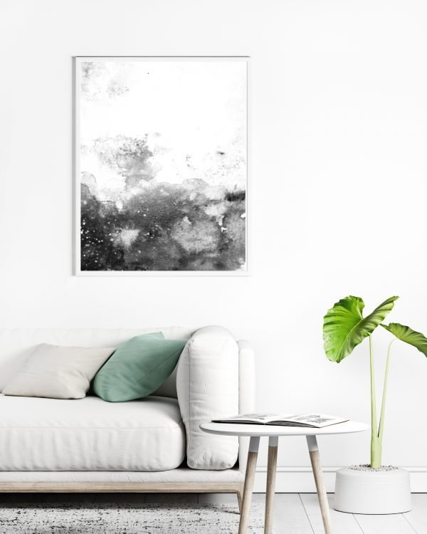 Zen Black White Abstract Art