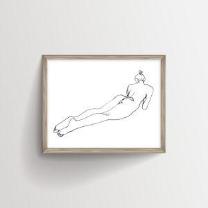 Horizontal Woman Laying Down Naked