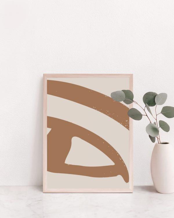 Abstract Eye Drawing Brown
